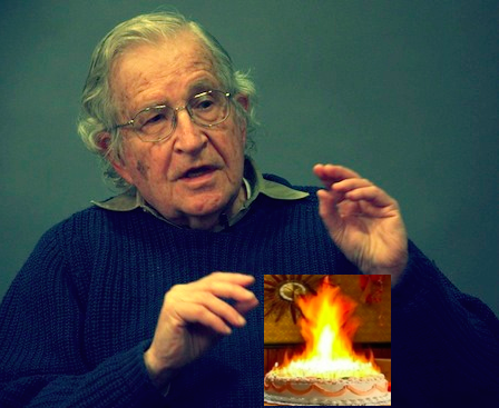 Noam Chomsky celebrates 50-year media ban